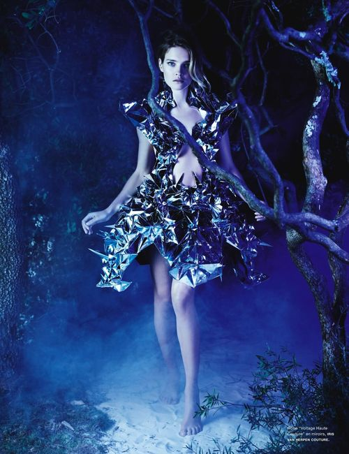 Natalia Vodianova in Iris Van Herpen Haute Couture, Spring 2013 photographed by Karl Lagerfeld for Numero #141, March 2013