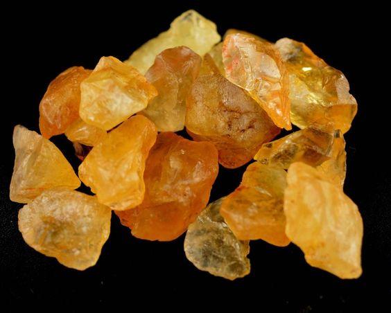 275 Ct EBAY Christmas Gift Natural Unheated Yellowish Citrine Gemstone Rough Lot