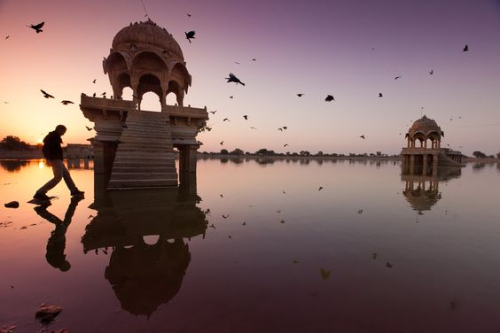 """On Gadisar Lake"" - Jaisalmer, Rajasthan, India"