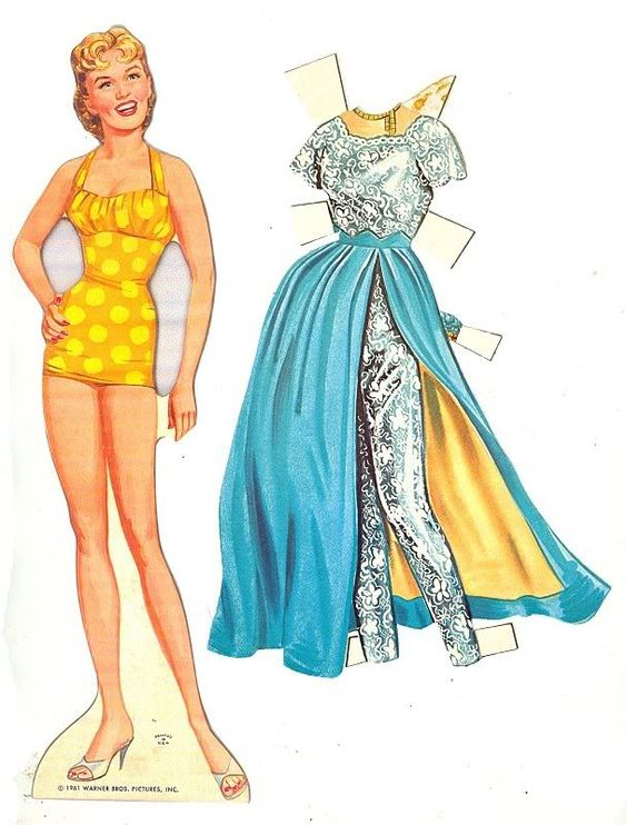 Connie Stevens paper doll
