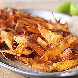 Sweet Potato chips with Lime Salt-- great snack and excellent side!