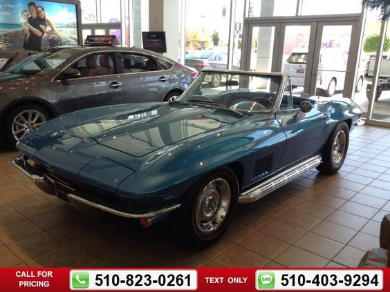 1967 Chevrolet Chevy Corvette Sting Ray 327/300 $69,865  miles 510-823-0261  #Chevrolet #Corvette #used #cars #OneToyotaofOakland #Oakland #CA #tapcars