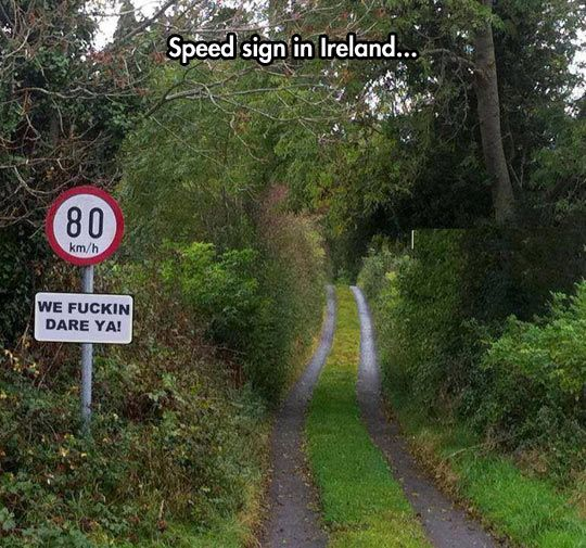 Speed Signs Are Different In Ireland