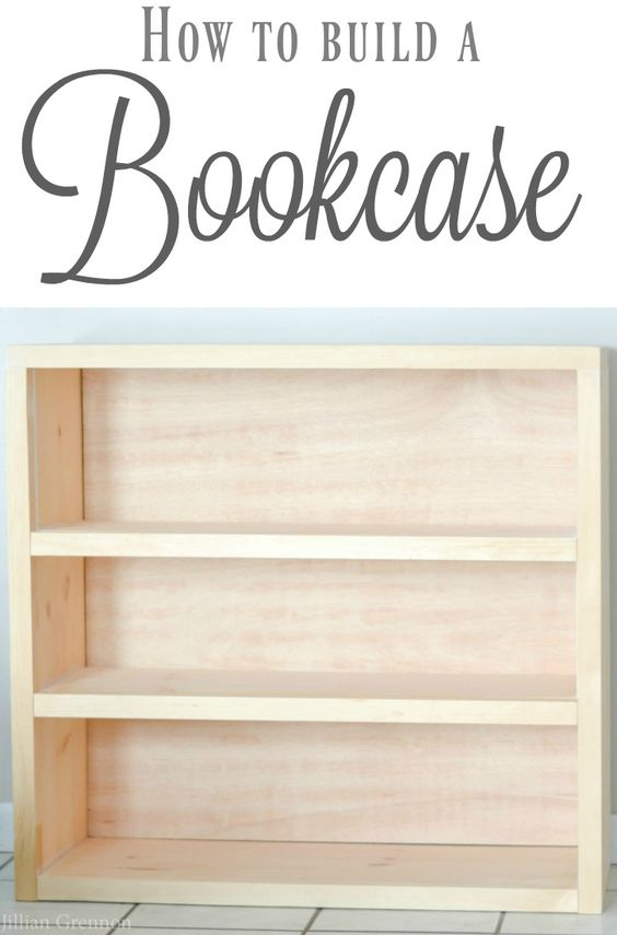 This easy DIY bookcase can be built in an afternoon AND can be changed to suit whatever dimensions you want. #DIYbookcase #diyprojects #diyideas #diyinspiration #diycrafts #diytutorial