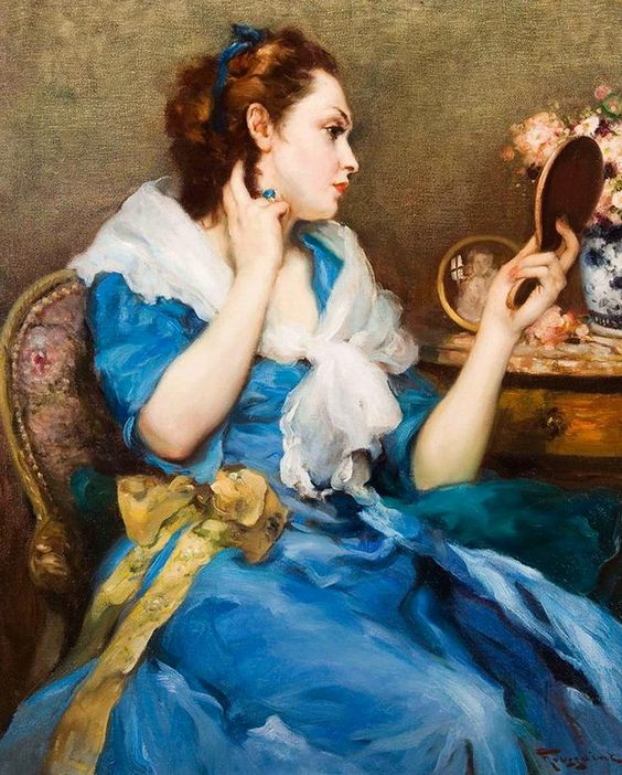 Fernand Toussaint (1873-1955) - Woman at her boudoir