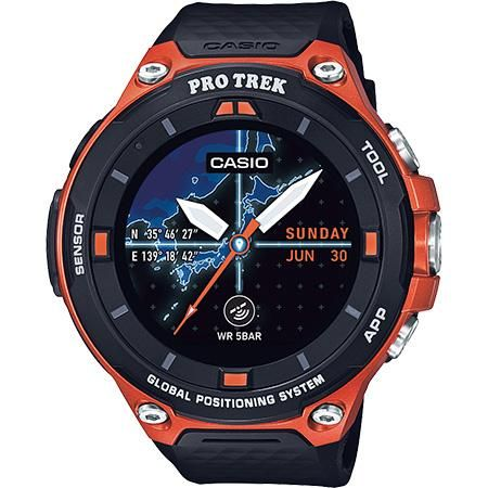 G Shock Pro Trek Wsd F20rg Black And Orange Smart Outdoor Watch Fink S Jewelers Casio Protrek Outdoor Watch Protrek