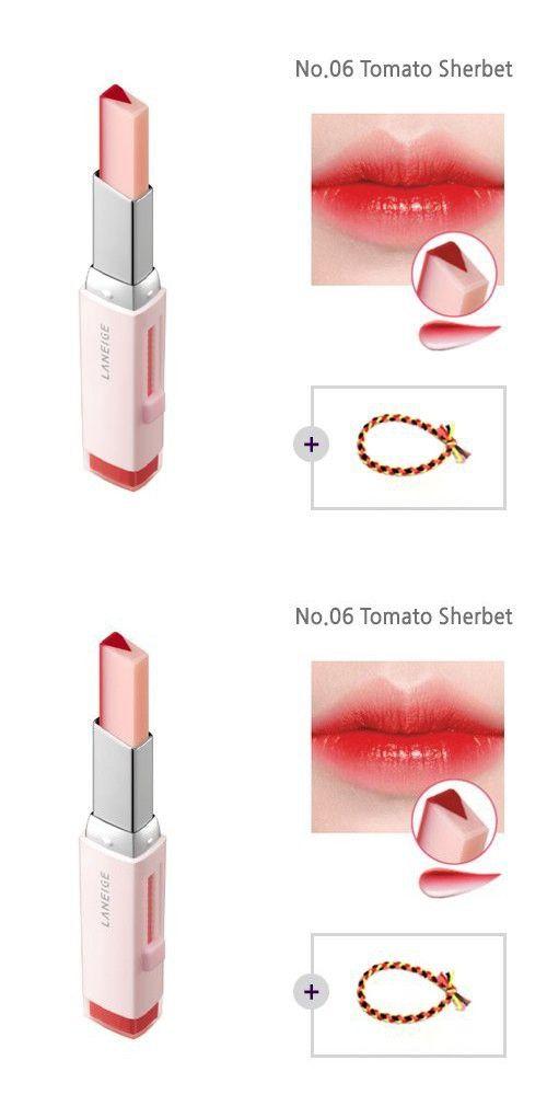 laneige two tone tint lip bar 0 07oz 2g no 06 tomato sherbet laneige two tone lip bar lip tint lip bars