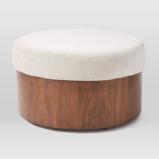 Upholstered Top Storage Ottoman Ottoman Upholstered Ottoman