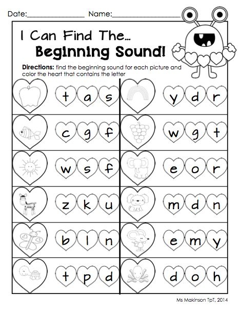 Worksheets Kindergarten Language Worksheets beginning sounds kindergarten literacy and worksheets on pinterest february printable packet math worksheet for valentines