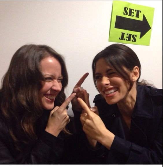 Amy amd Sarah!  Love their relationship on and off the show!