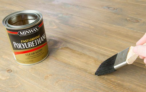 Applying Brush On Clear Finish To Wood How To Apply Polyurethane Natural Bristle Brush How To Apply