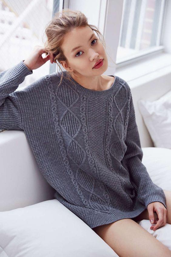 Olive & Oak Elbow Patch Sweater