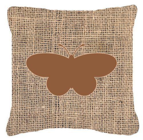 Butterfly Burlap Indoor/Outdoor Throw Pillow