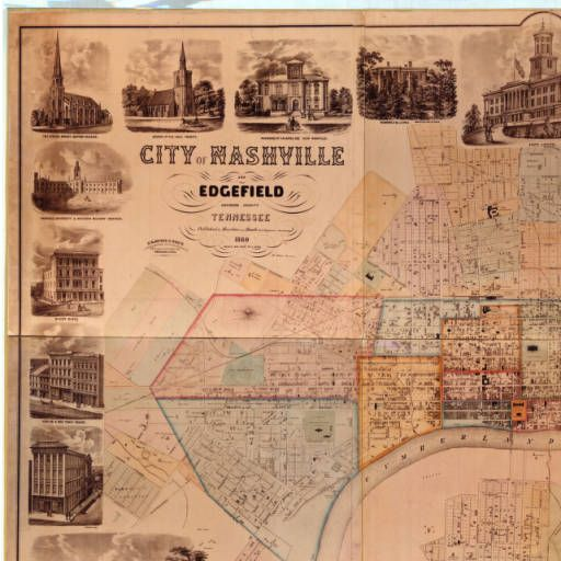 City of Nashville and Edgefield (1860) :: Tennessee State Library and Archives Historical Map Collection