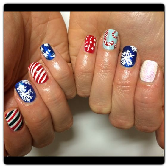 Winter wonderland #christmas is here #holidays#nail art#candy