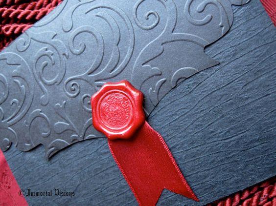 Vampire Greeting Card  Gothic Invitation by ImmortalVisions, $5.50