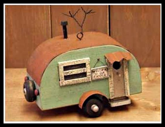 Fairy Camper Trailer - something really different!   ********************************************  FoxSpecialty - #fairy #garden #gardens #miniature #miniatures #fairies #whimsical #whimsy #camper #trailer - tå√: