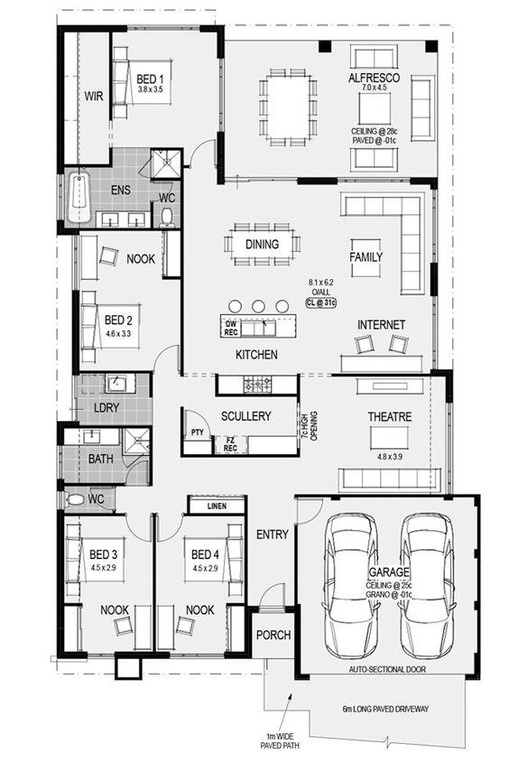 The Milan floorplans