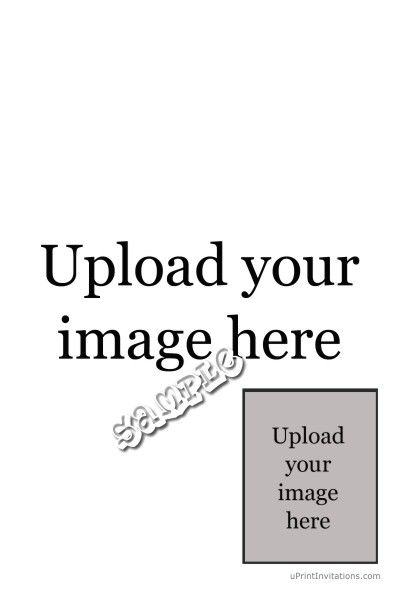 Babyface Your Image Vertical with Photo Right Birthday Invitations ...
