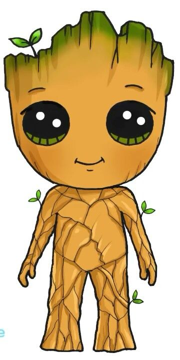 Groot Super Hero Shirts Gadgets Dessin Kawaii Princesse Dessin