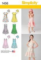 Child's and Girls' Dress with Bodice Variations and Hat - want it to be longer, maybe midi