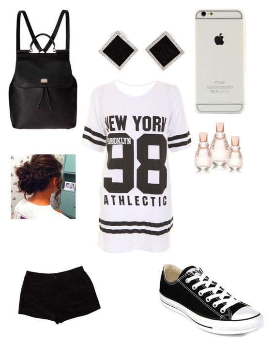 """""""I tried"""" by monizzles ❤ liked on Polyvore featuring Converse, Dolce&Gabbana, T By Alexander Wang, Yvel and GUESS"""