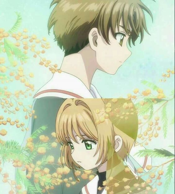 Sakura and Shaoran.