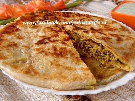 Pakistani Keema paratha - flatbread stuffed with spicy minced meat