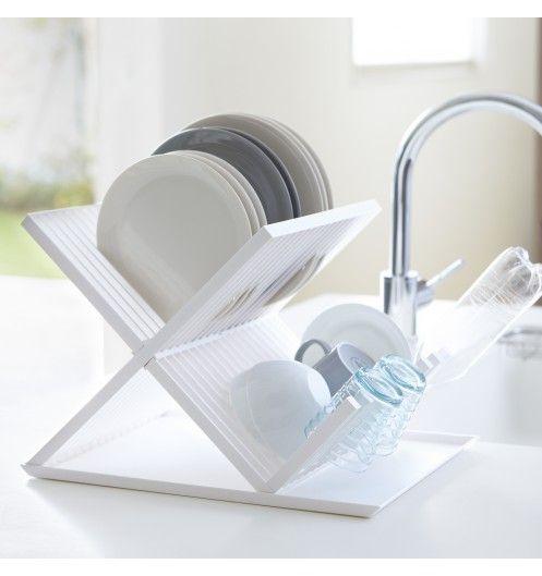 Egouttoir vaisselle pliable blanc - Egouttoir evier