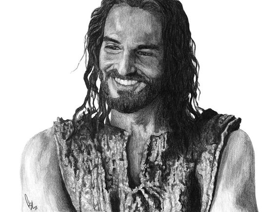 Jesus Smiling Drawing by Bobby Shaw. I look forward to seeing Jesus smile! Philippians 4:4 Rejoice in the Lord always; again I will say, Rejoice!