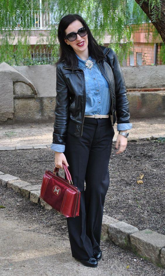 Alle Größen   Black leather jacket & denim button up shirt   Flickr - Fotosharing!