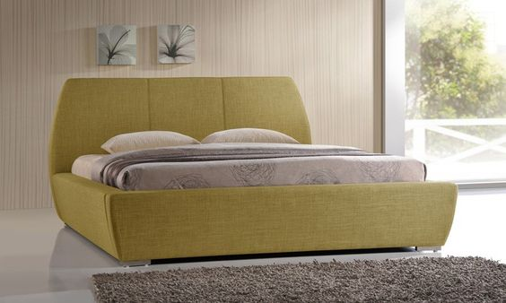 The exclusive Naxos bed frame will provide a contemporary look to your bedroom. Available in a choice of tea green or grey, the Naxos will complement a variety of bedroom decors.