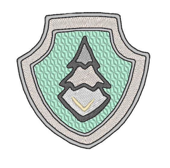paw patrol everest badge embroidery design badges. Black Bedroom Furniture Sets. Home Design Ideas