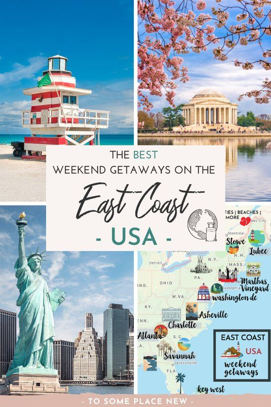 15 Very Best Weekend Getaways On The East Coast In 2020 North America Travel Destinations Usa Travel Destinations Best Weekend Getaways