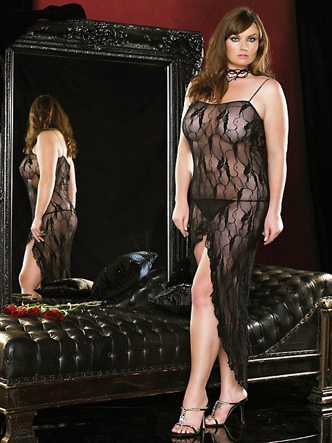 Plus size lingerie boutique butterfly lace gown get ready for