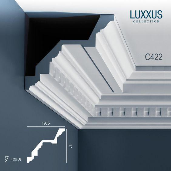 corniche moulure cimaise orac decor c422 luxxus d coration de stuc profil d coratif du mur 2 m. Black Bedroom Furniture Sets. Home Design Ideas