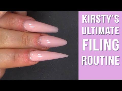 How To File Nails Like A Professional Nail Technician Youtube Professional Nails French Tip Nails Acrylic Nails