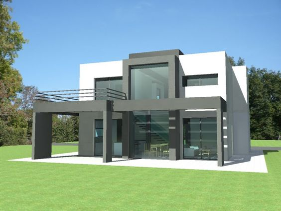 Plan maison contemporaine pyr n es orientales 66 plan for Villa contemporaine plan