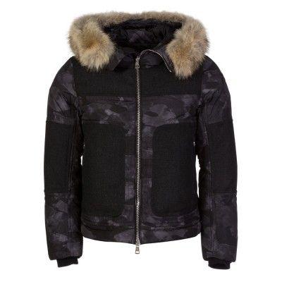 Moncler Grey Dedion Fur Jacket