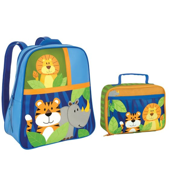 Stephen Joseph Boys Jungle Animals Backpack and Lunch Box Combo ...