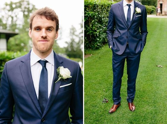 Love this suit! | Groomsmen | Pinterest | Midnight blue, Colors
