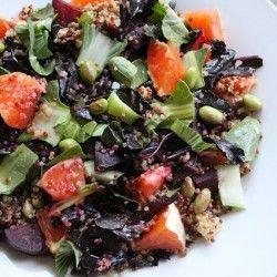 Roasted Beet and Orange Quinoa Salad