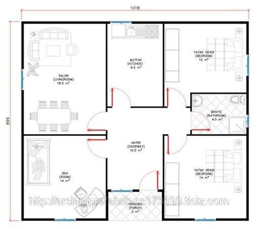 Mustakil Ev Projeleri Cizimleri Ve Ornek Modeller Emlakta Haber Ev Planlari Ev Plani Evler