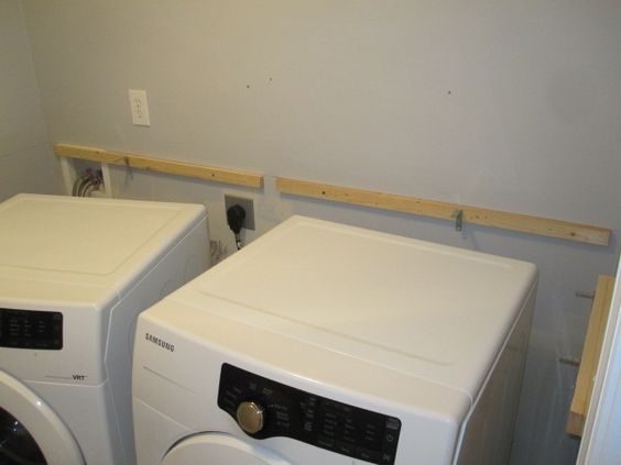 Countertop Above Washer And Dryer : Brackets for counter over washer/dryer. Simple DIY to create a folding ...