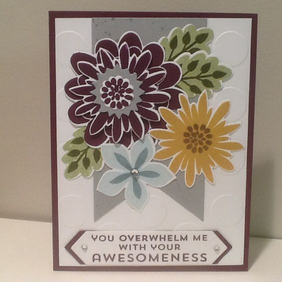 Flower Patch Stamp set and coordinating die cuts.