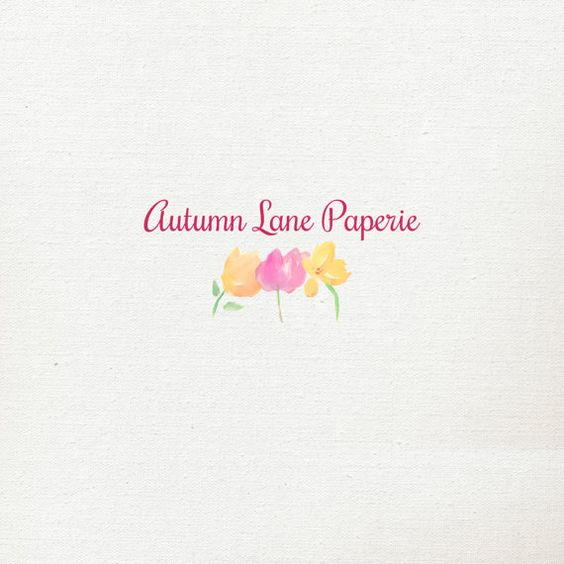 Customizable Watercolor Logo  Simple Bright by AutumnLanePaperie