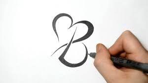 letter b tattoo fonts - Google Search