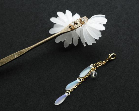 白菊の二輪簪(しらぎくのにりんかんざし)