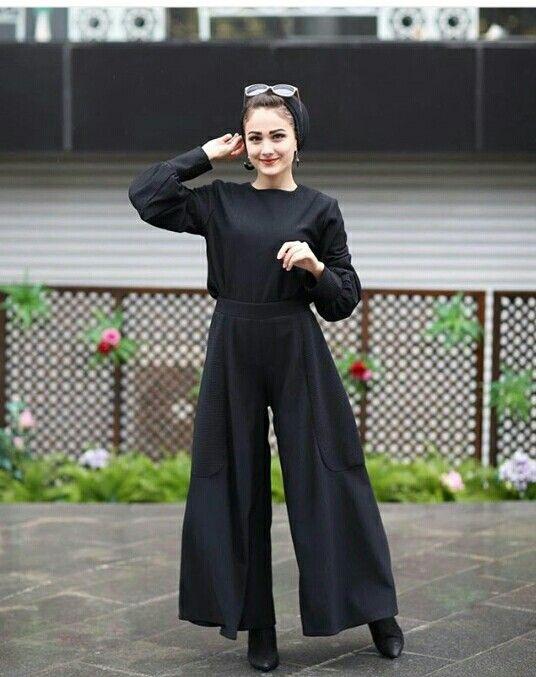 Palazzo Pants بنطلون واسع Hijab Hijaboutfit Turban Pinterest Gehadgee Hijab Fashion Hijab Trends Hijabi Fashion