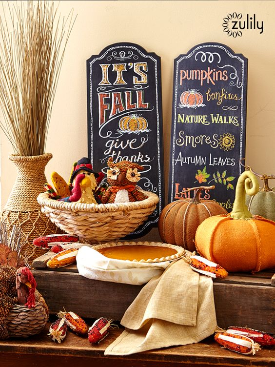 Fall desserts, Home decor items and Thanksgiving on Pinterest